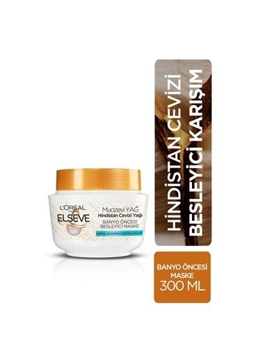 L'Oréal Paris Elseve Hindistan Cevizi & Değerli Yağlar Eşsiz Karışım Banyo Öncesi Maske Renksiz